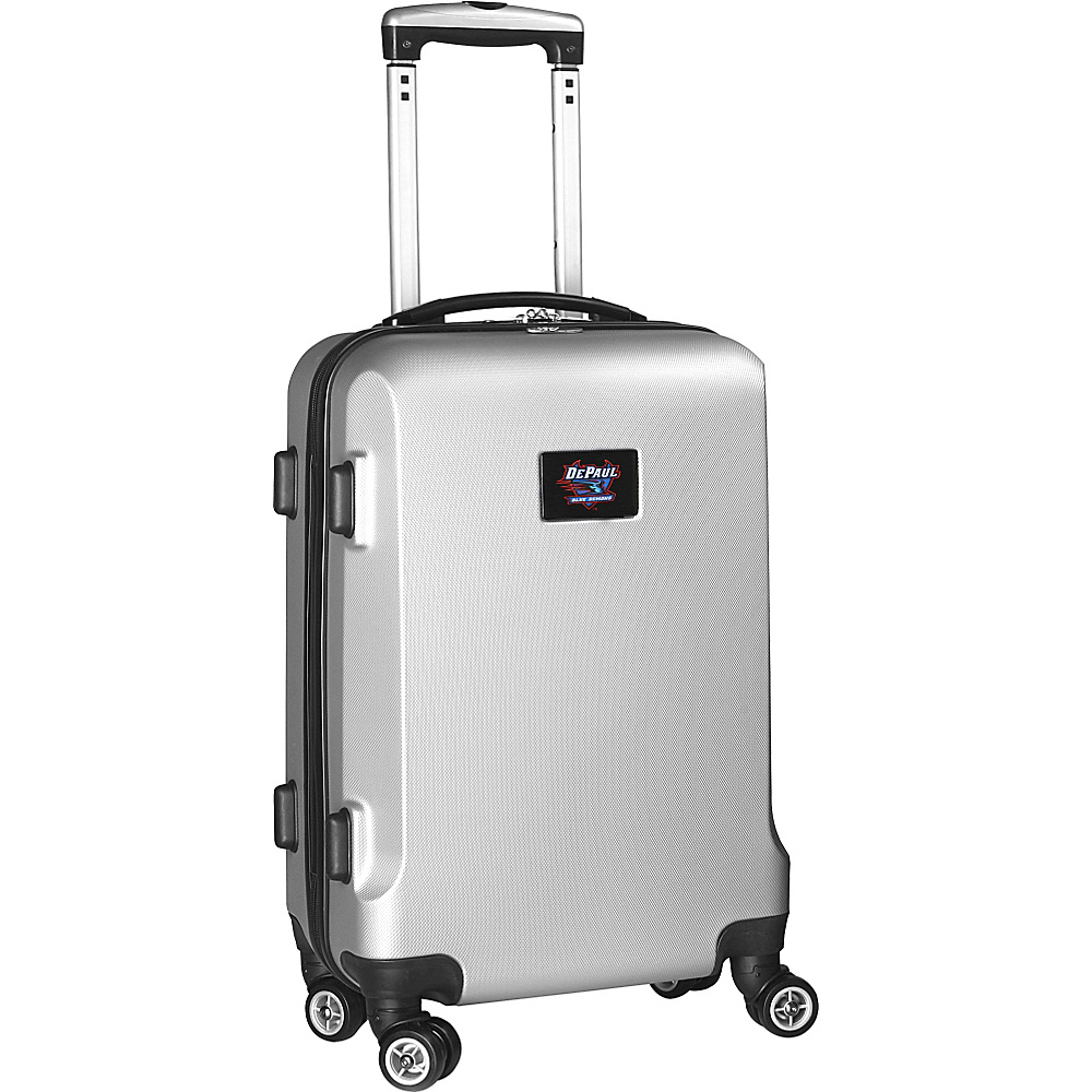 Denco Sports Luggage NCAA 20 Domestic Carry-On Silver DePaul University Blue Demons - Denco Sports Luggage Hardside Carry-On - Luggage, Hardside Carry-On