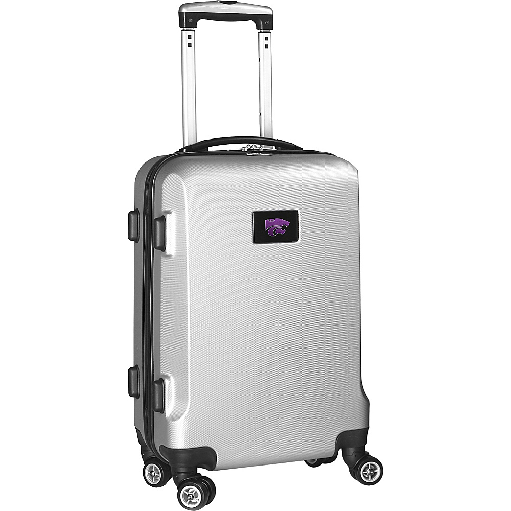 Denco Sports Luggage NCAA 20 Domestic Carry-On Silver Kansas State University Wildcats - Denco Sports Luggage Hardside Carry-On - Luggage, Hardside Carry-On