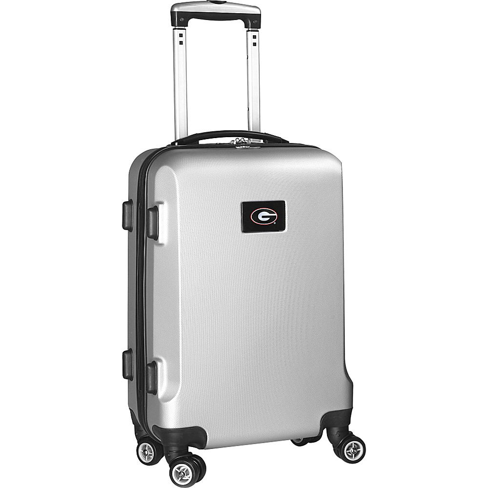Denco Sports Luggage NCAA 20 Domestic Carry-On Silver University of Georgia Bulldogs - Denco Sports Luggage Hardside Carry-On - Luggage, Hardside Carry-On