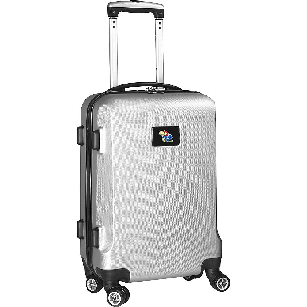 Denco Sports Luggage NCAA 20 Domestic Carry-On Silver University of Kansas Jayhawks - Denco Sports Luggage Hardside Carry-On - Luggage, Hardside Carry-On