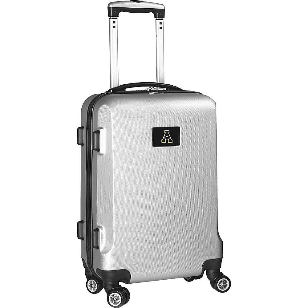 Denco Sports Luggage NCAA 20 Domestic Carry-On Silver Appalachian State University Mountaineers - Denco Sports Luggage Hardside Carry-On - Luggage, Hardside Carry-On
