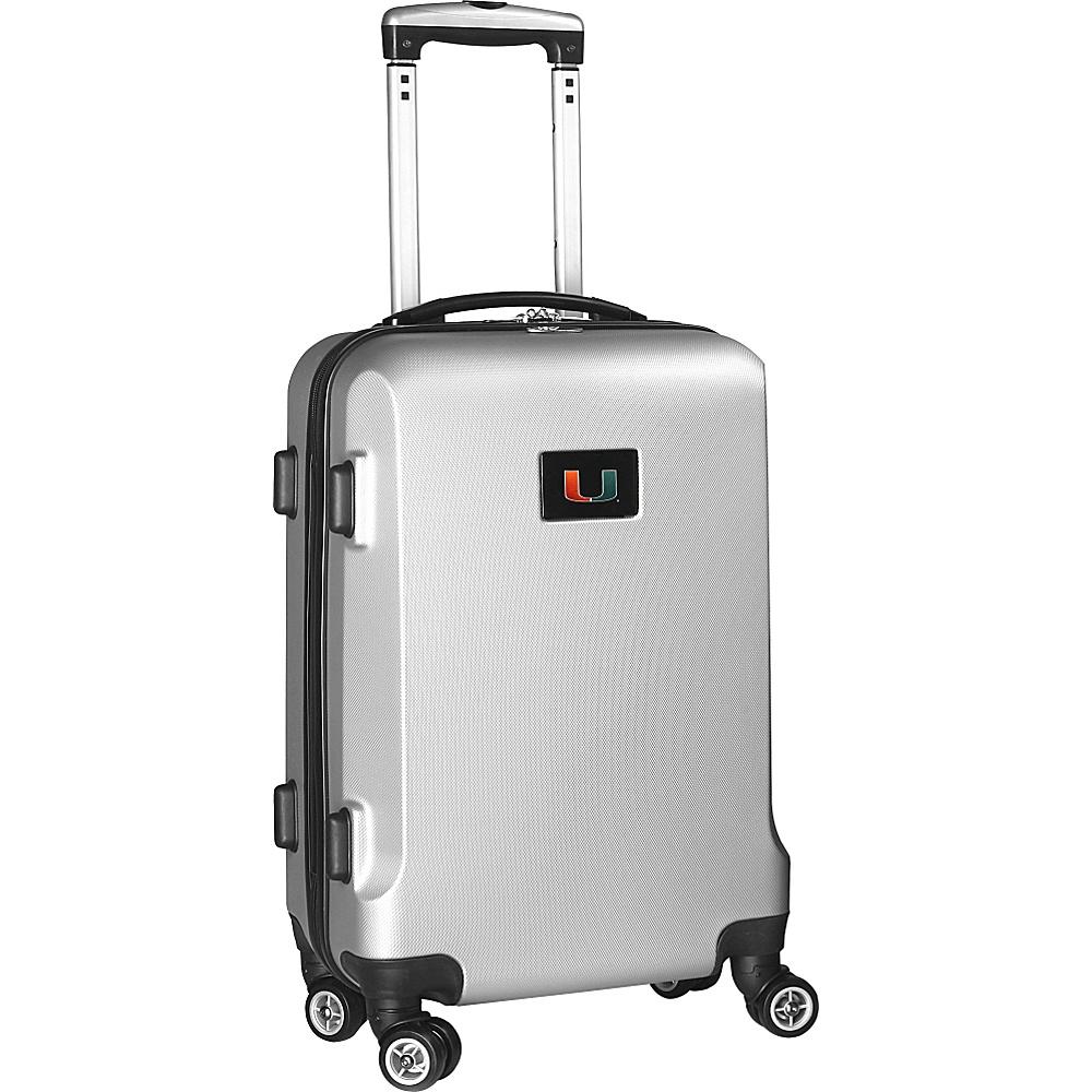 Denco Sports Luggage NCAA 20 Domestic Carry-On Silver University of Miami Hurricanes - Denco Sports Luggage Hardside Carry-On - Luggage, Hardside Carry-On