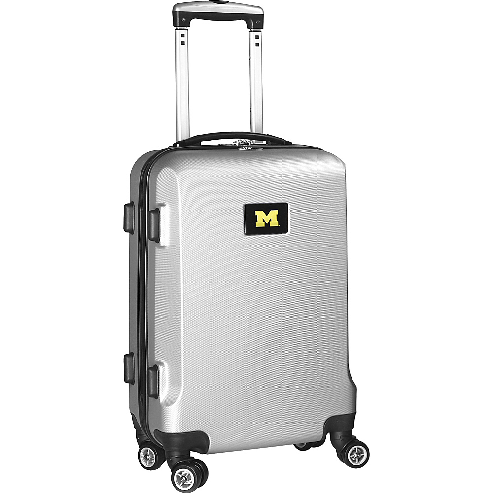 Denco Sports Luggage NCAA 20 Domestic Carry-On Silver University of Michigan Wolverines - Denco Sports Luggage Hardside Carry-On - Luggage, Hardside Carry-On