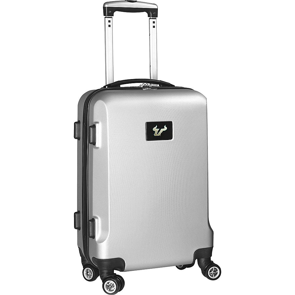 Denco Sports Luggage NCAA 20 Domestic Carry-On Silver University of South Florida Bulls - Denco Sports Luggage Hardside Carry-On - Luggage, Hardside Carry-On