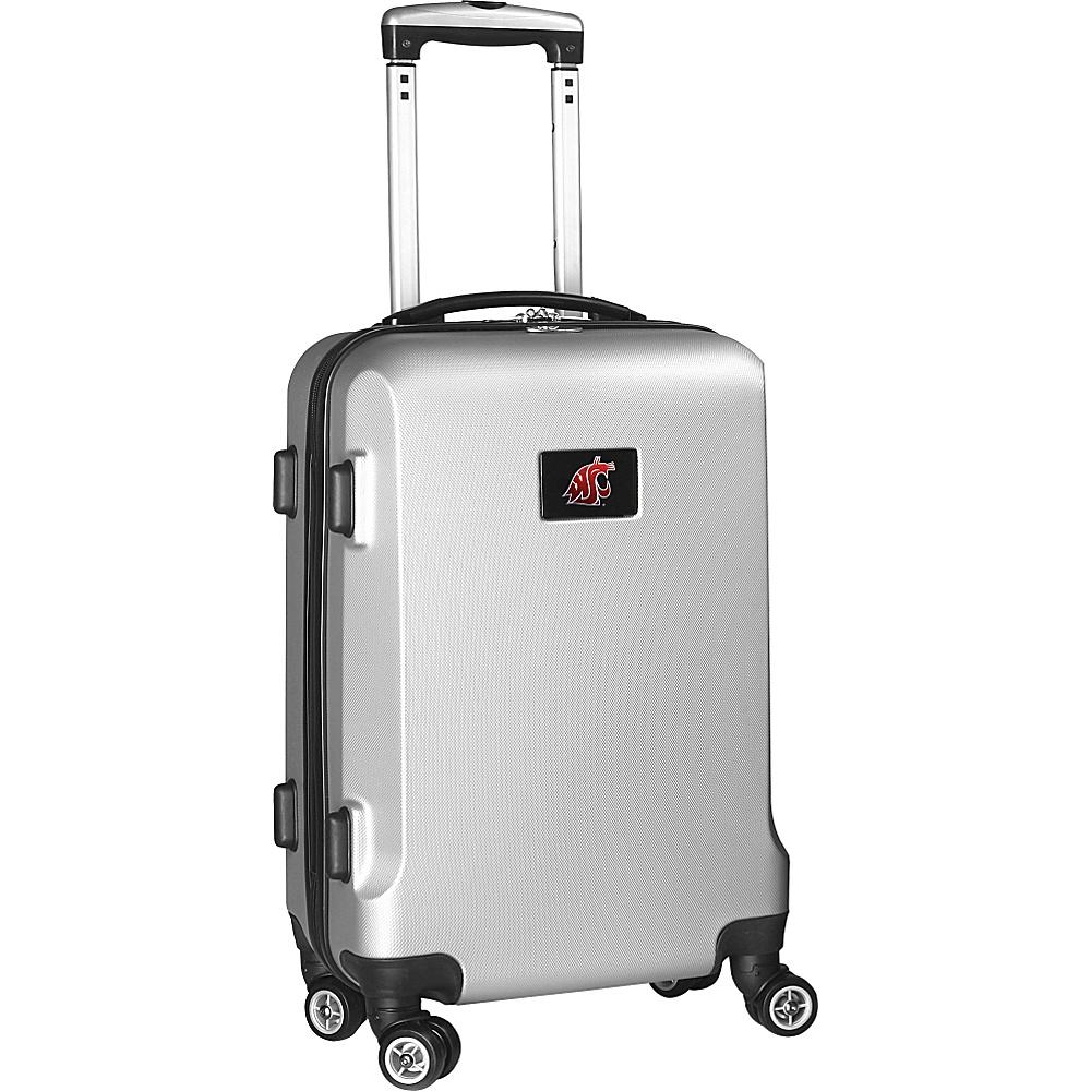 Denco Sports Luggage NCAA 20 Domestic Carry-On Silver Washington State University Cougars - Denco Sports Luggage Hardside Carry-On - Luggage, Hardside Carry-On