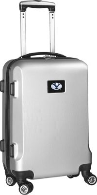 "Denco Sports Luggage NCAA 20"""" Domestic Carry-On Silver Brigham Young University Cougars - Denco Sports Luggage Hardside Carry-On"