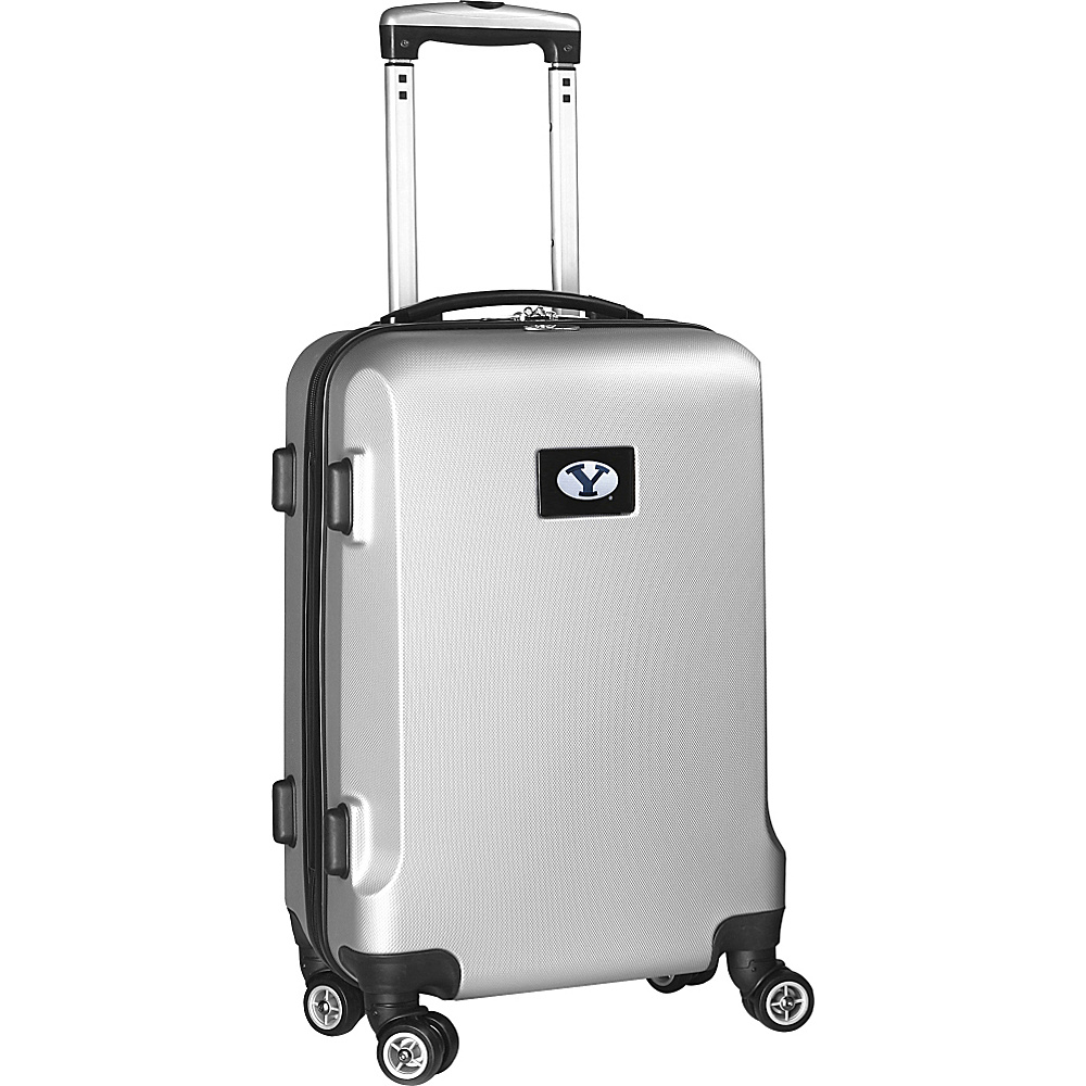 Denco Sports Luggage NCAA 20 Domestic Carry-On Silver Brigham Young University Cougars - Denco Sports Luggage Hardside Carry-On - Luggage, Hardside Carry-On