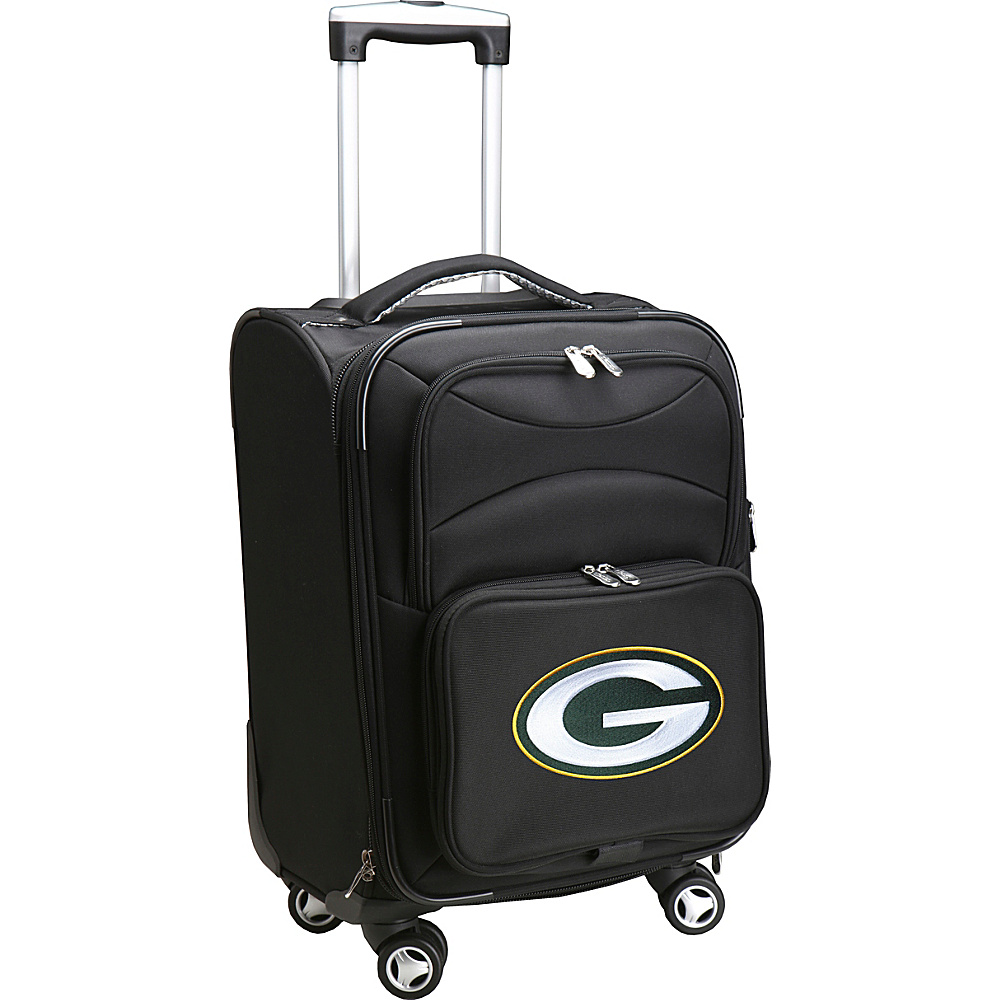 Denco Sports Luggage NFL 20 Domestic Carry-On Spinner Green Bay Packers - Denco Sports Luggage Softside Carry-On - Luggage, Softside Carry-On
