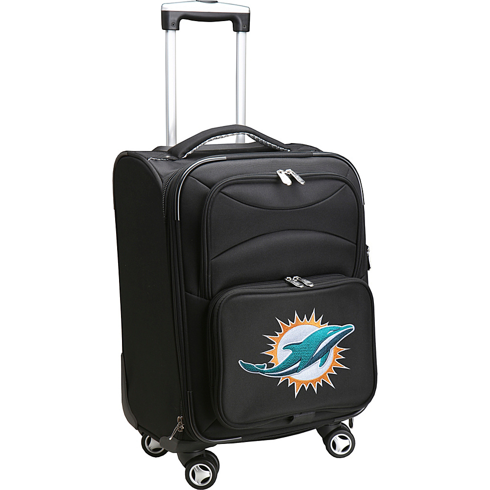 Denco Sports Luggage NFL 20 Domestic Carry-On Spinner Miami Dolphins - Denco Sports Luggage Softside Carry-On - Luggage, Softside Carry-On