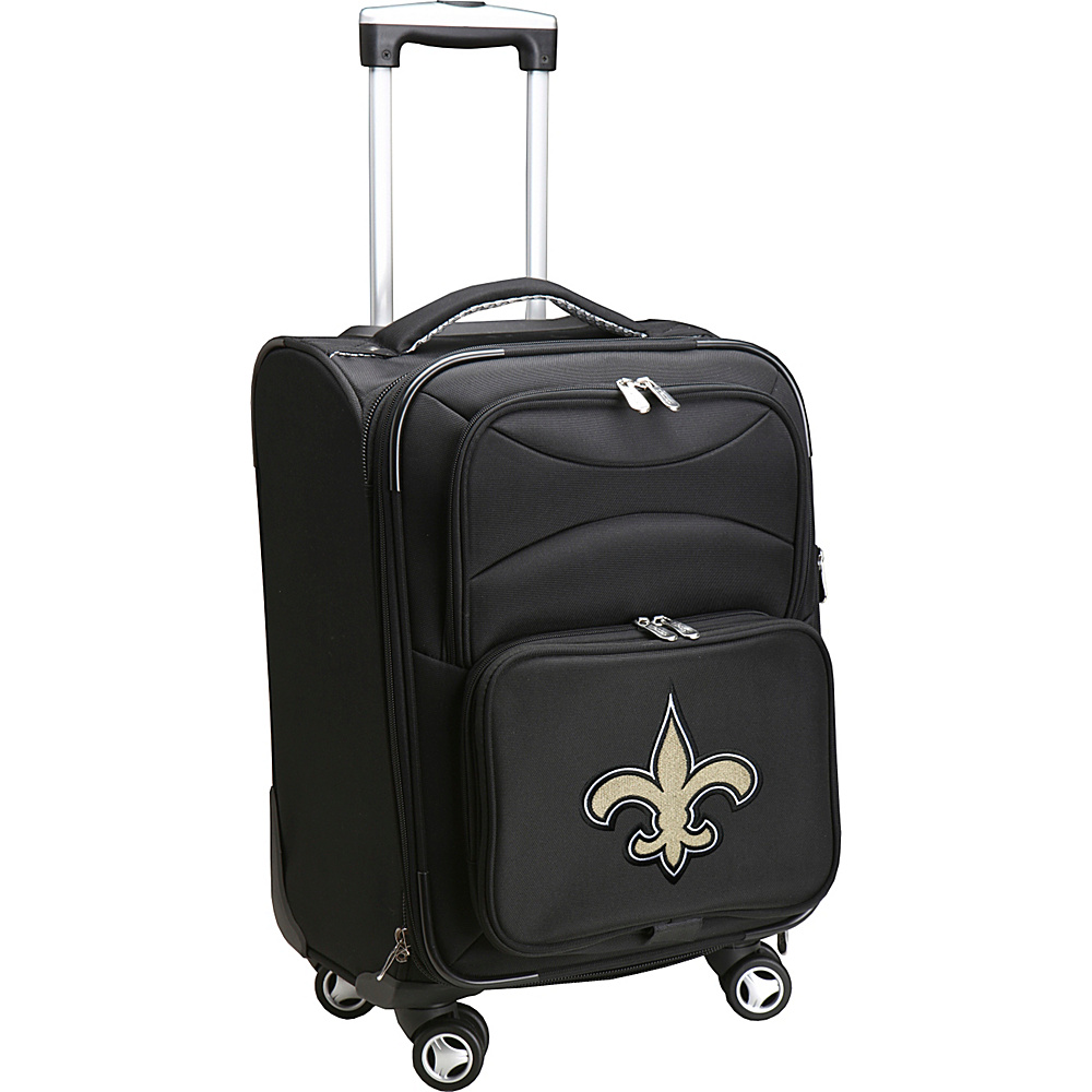 Denco Sports Luggage NFL 20 Domestic Carry-On Spinner New Orleans Saints - Denco Sports Luggage Softside Carry-On - Luggage, Softside Carry-On