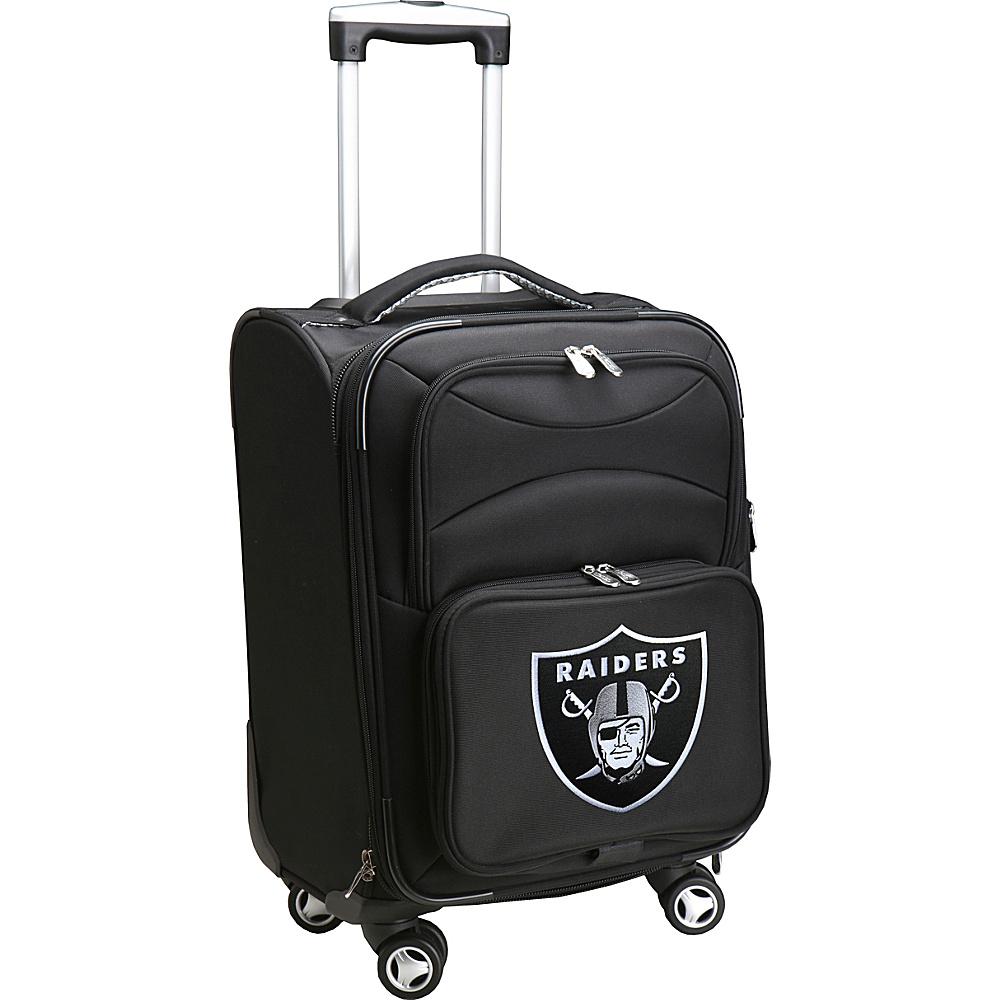 Denco Sports Luggage NFL 20 Domestic Carry-On Spinner Oakland Raiders - Denco Sports Luggage Softside Carry-On - Luggage, Softside Carry-On