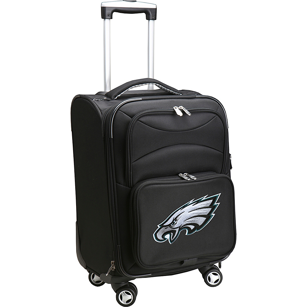 Denco Sports Luggage NFL 20 Domestic Carry-On Spinner Philadelphia Eagles - Denco Sports Luggage Softside Carry-On - Luggage, Softside Carry-On