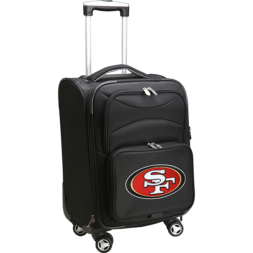 Denco Sports Luggage NFL 20 Domestic Carry-On Spinner San Francisco 49ers - Denco Sports Luggage Softside Carry-On - Luggage, Softside Carry-On