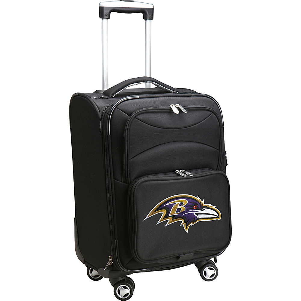 Denco Sports Luggage NFL 20 Domestic Carry-On Spinner Baltimore Ravens - Denco Sports Luggage Softside Carry-On - Luggage, Softside Carry-On