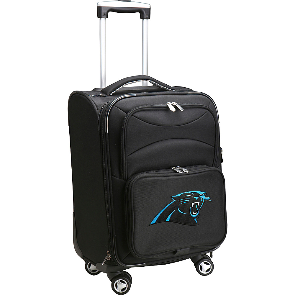 Denco Sports Luggage NFL 20 Domestic Carry-On Spinner Carolina Panthers - Denco Sports Luggage Softside Carry-On - Luggage, Softside Carry-On