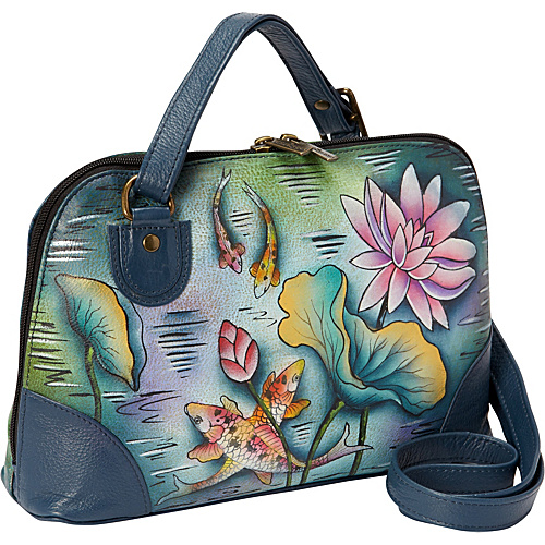Anuschka Multi Compartment Zip-Around Organizer Karmic Koi - Anuschka Leather Handbags