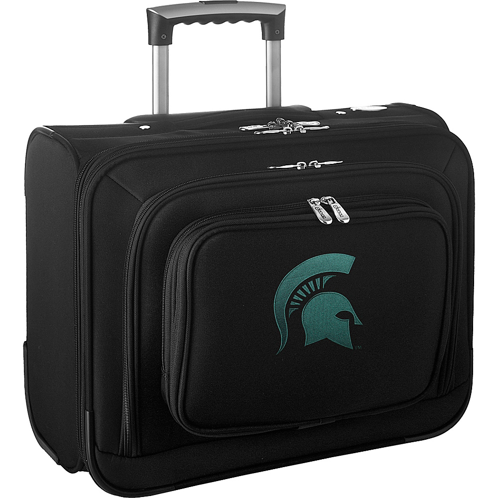 Denco Sports Luggage NCAA 14 Laptop Overnighter Michigan State University Spartans - Denco Sports Luggage Wheeled Business Cases - Work Bags & Briefcases, Wheeled Business Cases