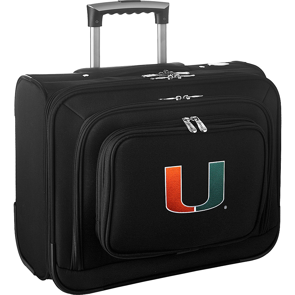 Denco Sports Luggage NCAA 14 Laptop Overnighter University of Miami Hurricanes - Denco Sports Luggage Wheeled Business Cases - Work Bags & Briefcases, Wheeled Business Cases