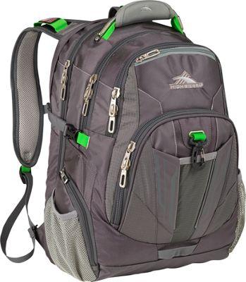 High Sierra XBT TSA Laptop Backpack Charcoal, Silver, Kelly - High Sierra Business & Laptop Backpacks