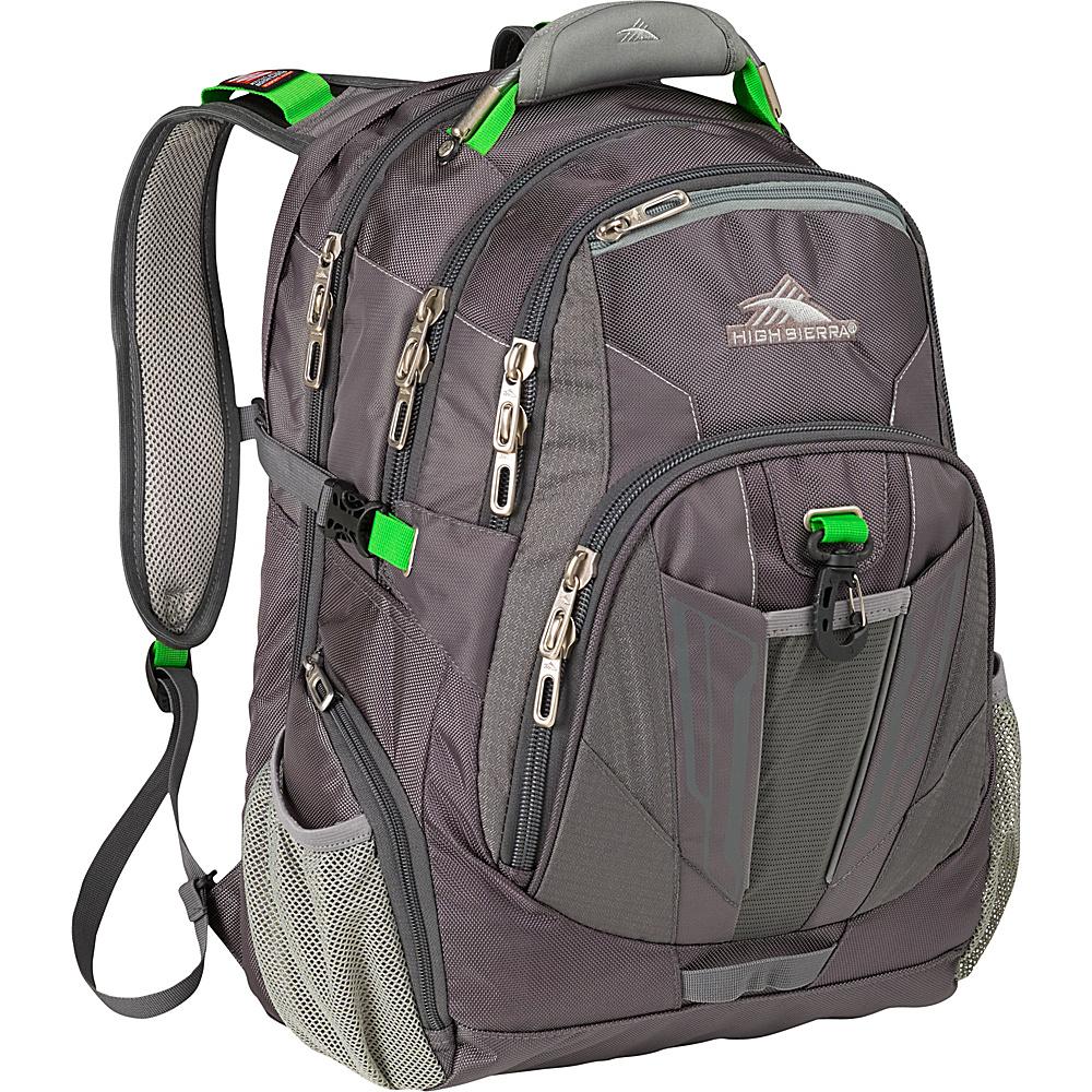 High Sierra XBT TSA Laptop Backpack Charcoal Silver Kelly High Sierra Business Laptop Backpacks