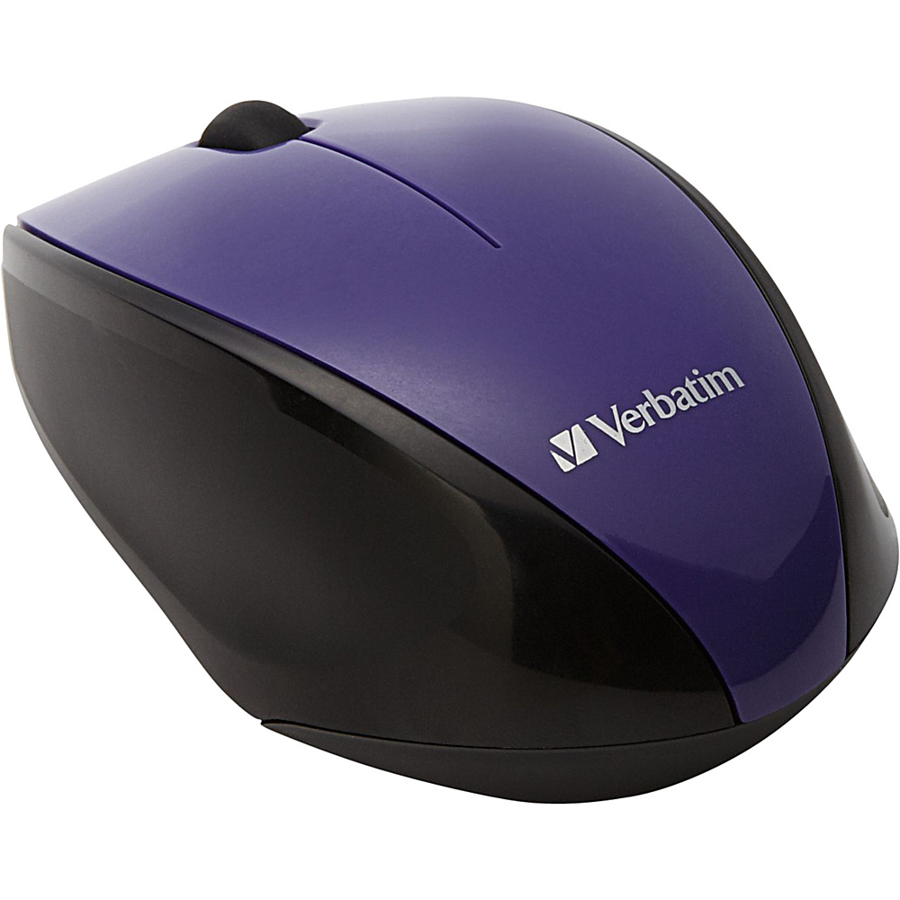 Verbatim Wireless Multi Trac Blue LED Optical Mouse Purple Verbatim Business Accessories