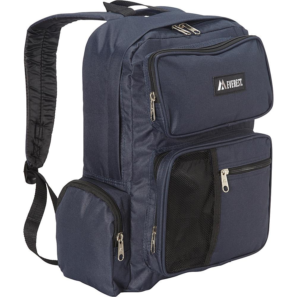 Everest Backpack with Front Bottle Holder Navy - Everest Day Hiking Backpacks - Outdoor, Day Hiking Backpacks