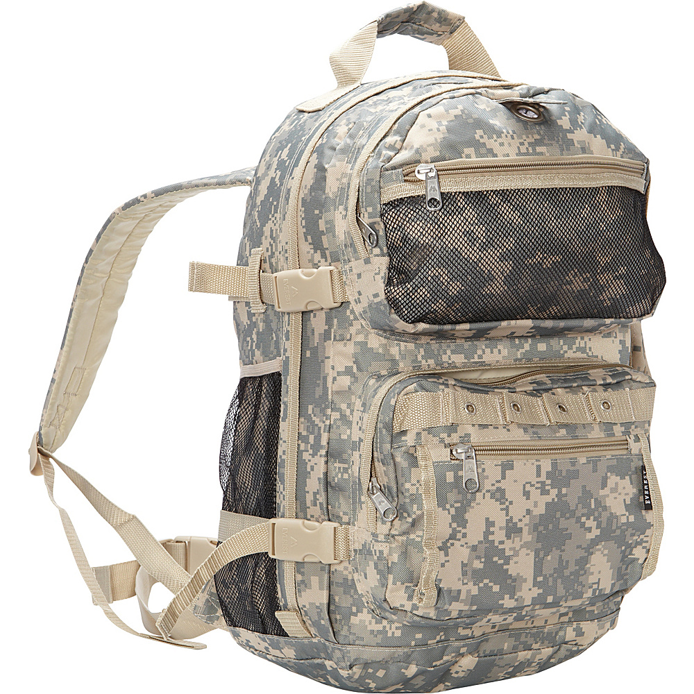 Everest Oversize Digital Camo Backpack Digital Camo Everest Day Hiking Backpacks