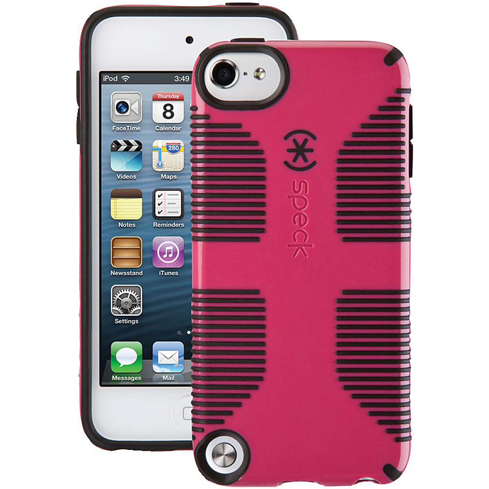 Speck iPod Touch 5th Gen Candyshell Grip Case Raspberry Pink Black Speck Electronic Cases