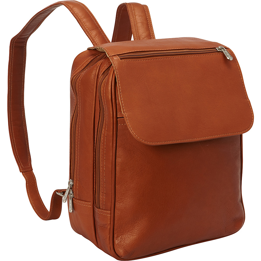 Piel Flap-Over Tablet Backpack Saddle - Piel Leather Handbags - Handbags, Leather Handbags