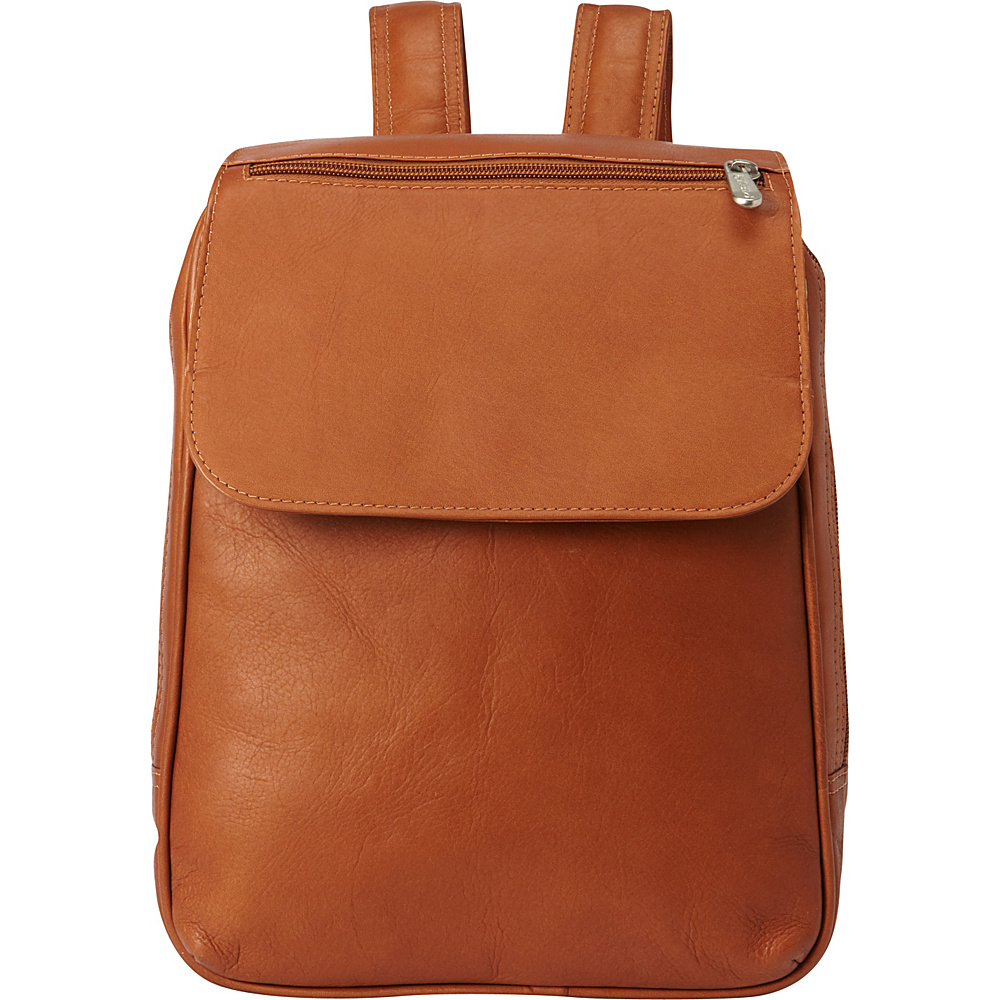 Piel Flap-Over Tablet Backpack Chocolate - Piel Leather Handbags