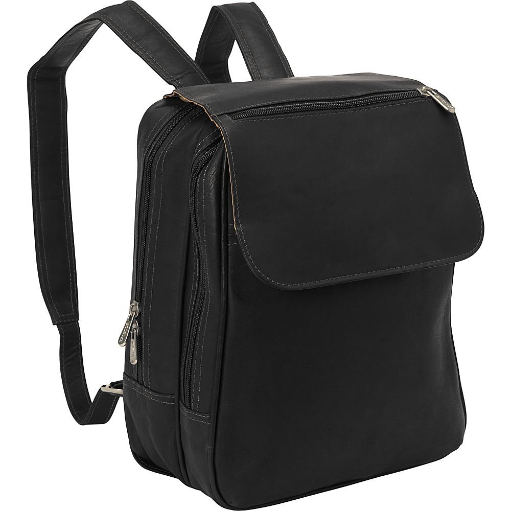 Piel Flap-Over Tablet Backpack Black - Piel Leather Handbags - Handbags, Leather Handbags