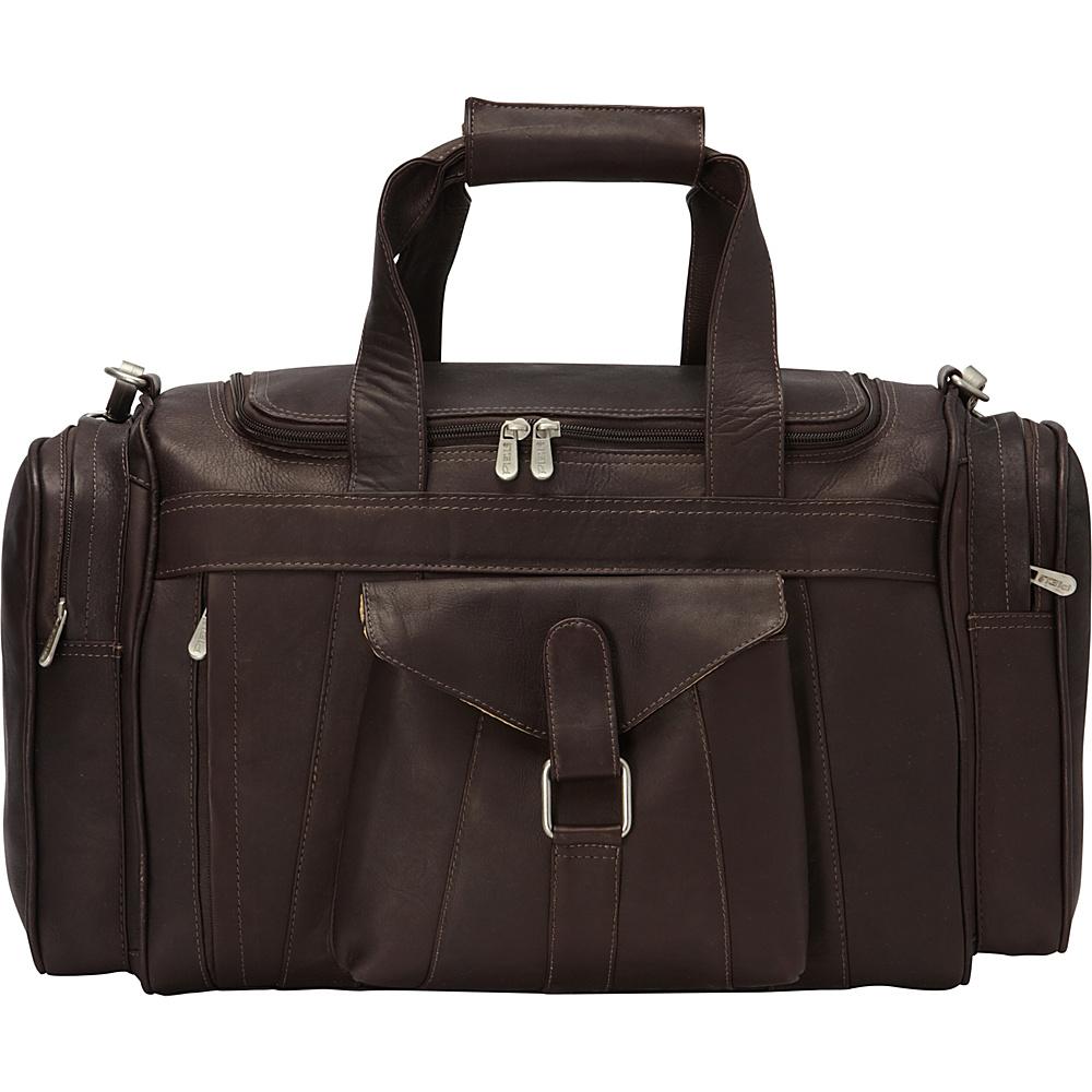Piel Loop Large Pocket Duffel Chocolate - Piel Rolling Duffels - Luggage, Rolling Duffels