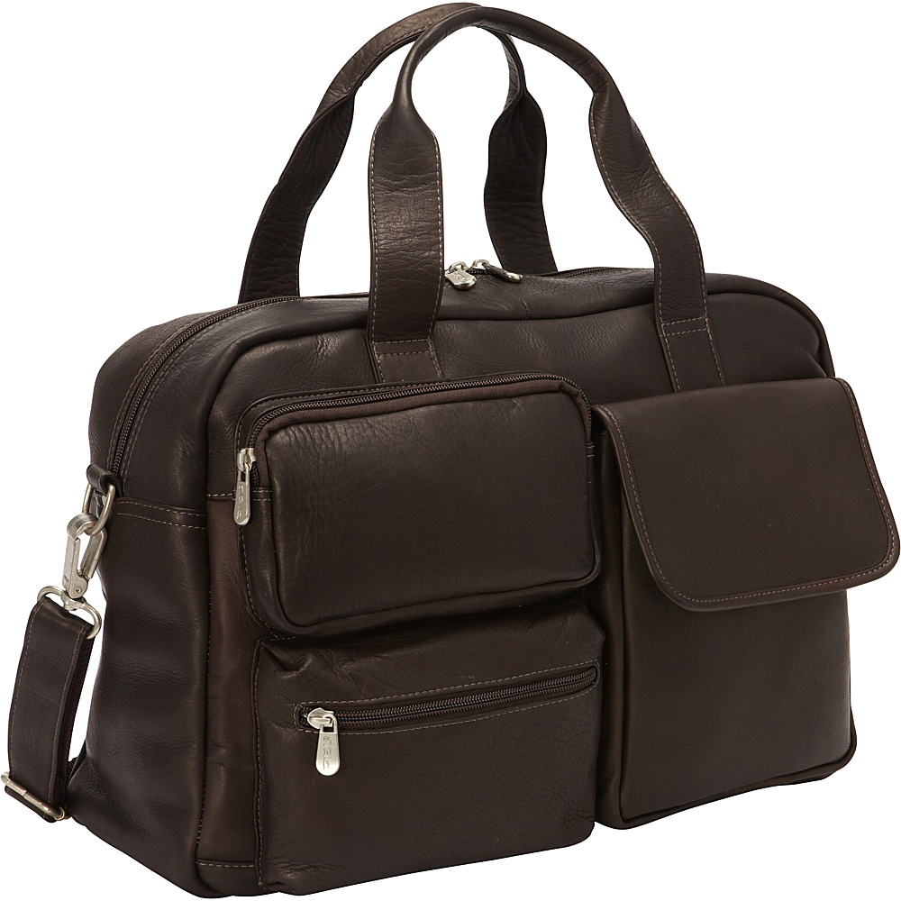 Piel Multi-Pocket Carry-On Chocolate - Piel Softside Carry-On - Luggage, Softside Carry-On