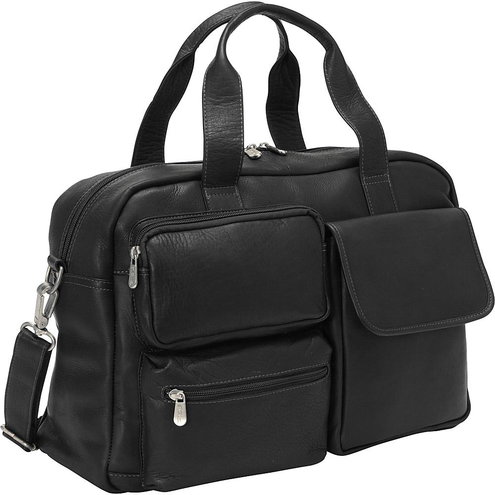 Piel Multi-Pocket Carry-On Black - Piel Softside Carry-On - Luggage, Softside Carry-On