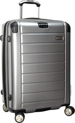 Ricardo Beverly Hills Roxbury 2.0 25-Inch 4 Wheel Upright Brushed Silver - Ricardo Beverly Hills Hardside Checked