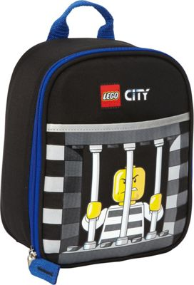 LEGO Vertical Lunch City Police Crook Black - LEGO Travel Coolers