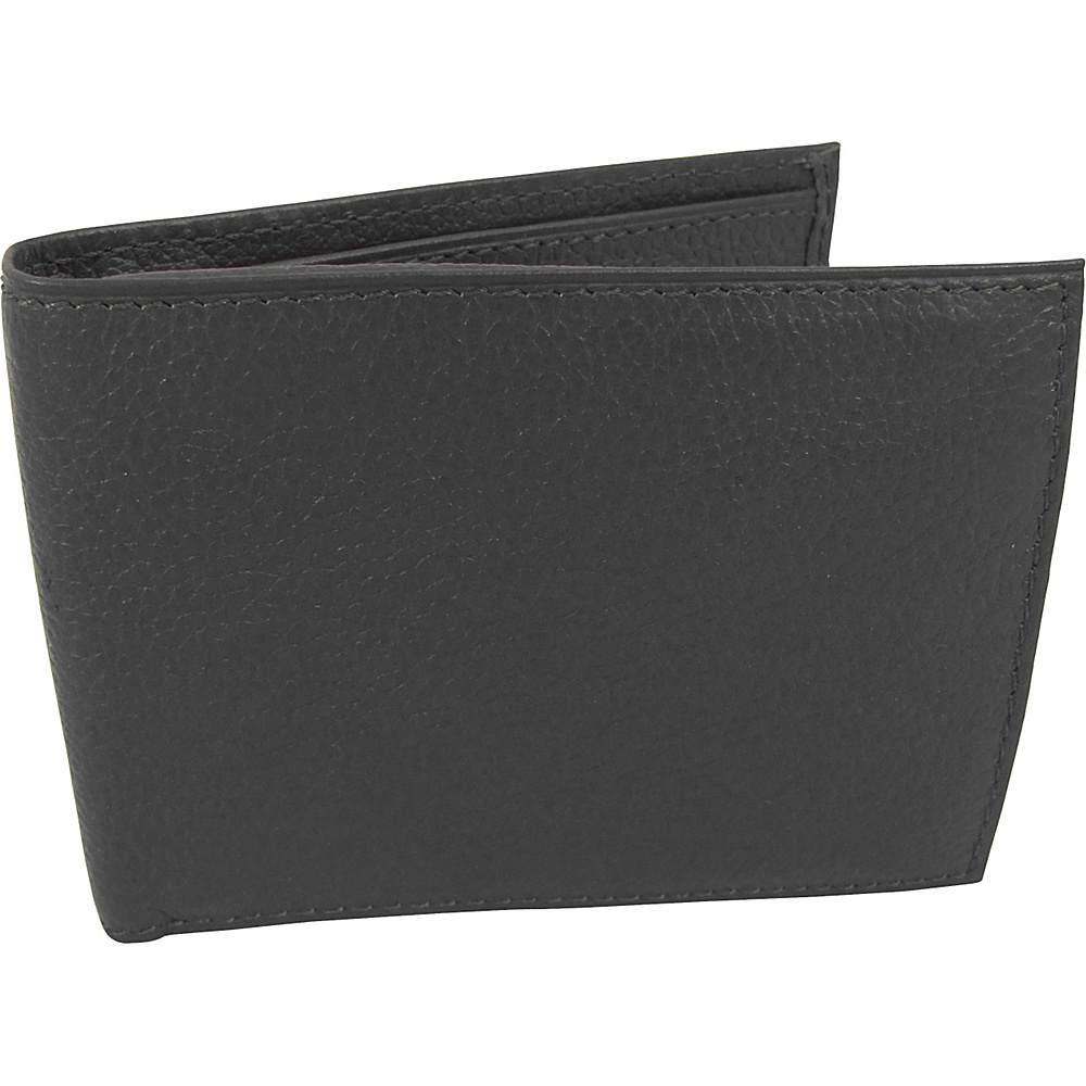 AmeriLeather Leather Bi Fold Wallet Black - AmeriLeather Mens Wallets - Work Bags & Briefcases, Men's Wallets