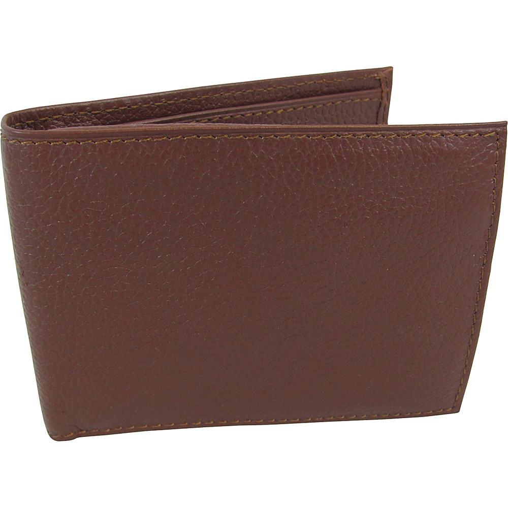 AmeriLeather Leather Bi Fold Wallet Brown - AmeriLeather Mens Wallets - Work Bags & Briefcases, Men's Wallets