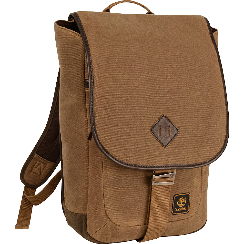 Timberland Mt. Madison Backpack Messenger Tan Brown Timberland Business Laptop Backpacks