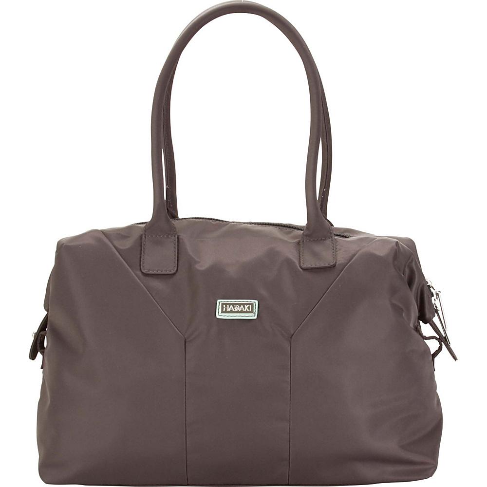Hadaki Satchel Asphalt - Hadaki Fabric Handbags - Handbags, Fabric Handbags