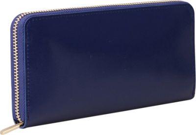 Paperthinks Long Wallet Navy Blue - Paperthinks Women's Wallets