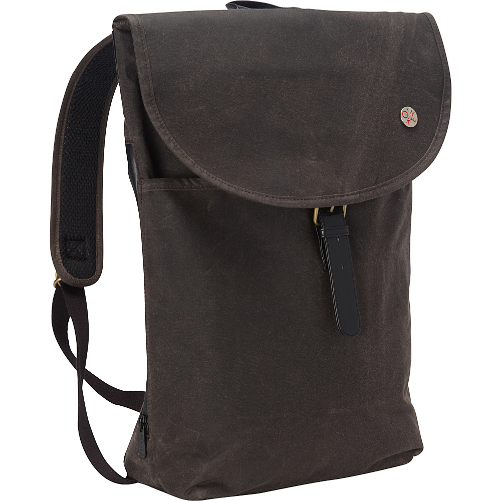 TOKEN Bergen Waxed Backpack L Dark Brown TOKEN Everyday Backpacks