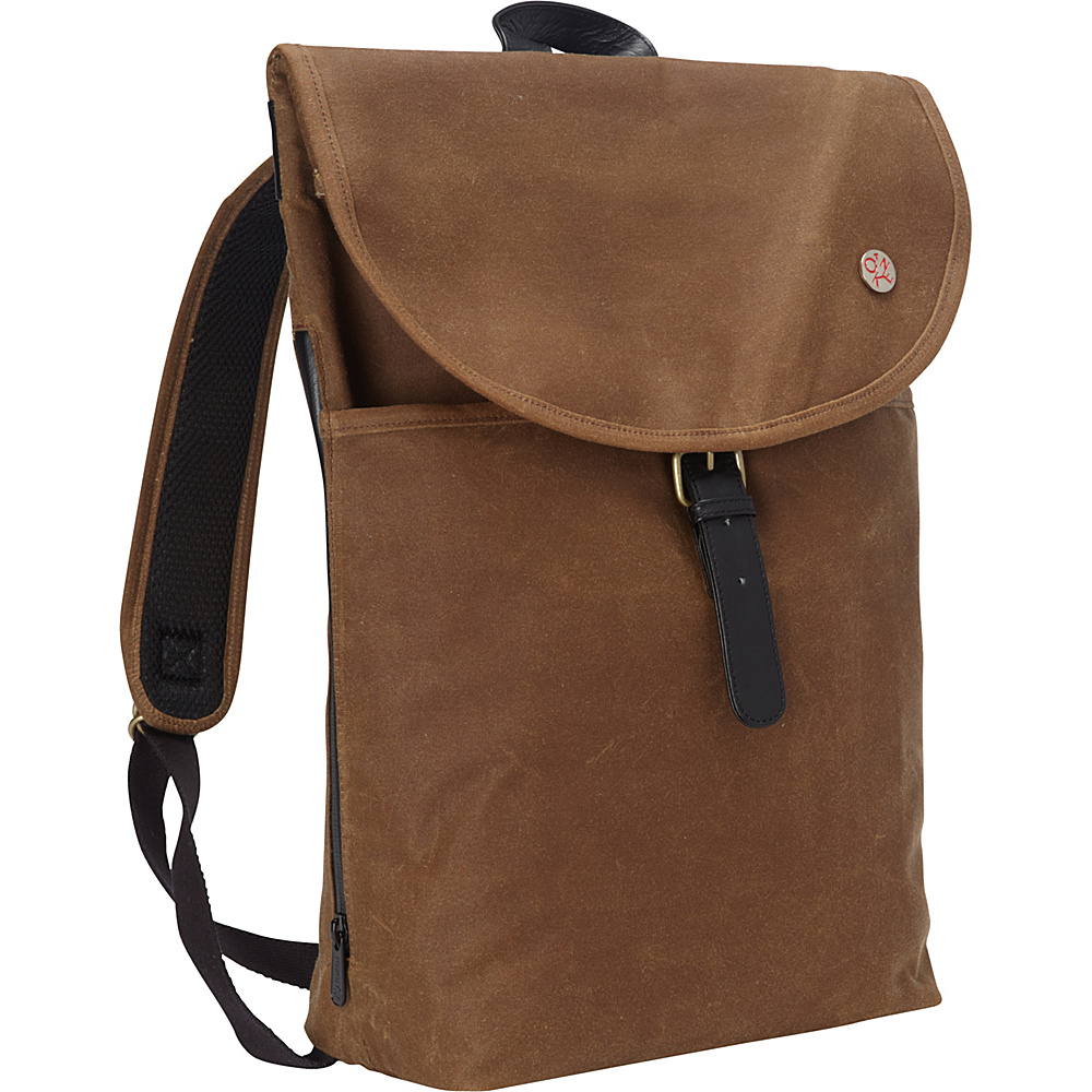 TOKEN Bergen Waxed Backpack L Field Tan TOKEN Everyday Backpacks