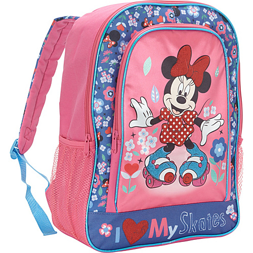 Disney Minnie Mouse I Love My Skates Backpack Pink - Disney School & Day Hiking Backpacks