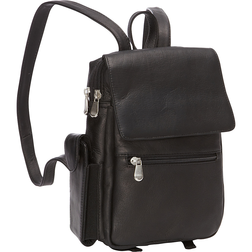 Le Donne Leather Sapelli Backpack Black - Le Donne Leather Leather Handbags