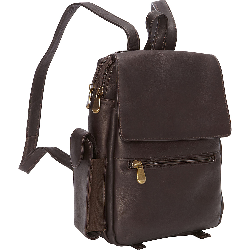 Le Donne Leather Sapelli Backpack Cafe - Le Donne Leather Leather Handbags