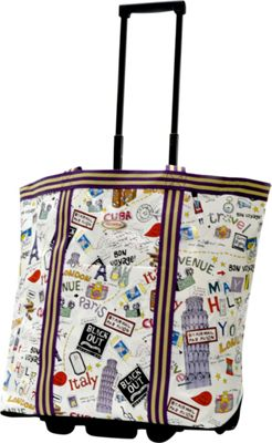 Olympia USA Cosmopolitan Rolling Shopper Tote City - Olympia USA All-Purpose Totes