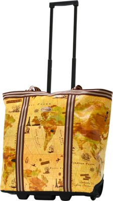 Olympia USA Cosmopolitan Rolling Shopper Tote Map - Olympia USA All-Purpose Totes