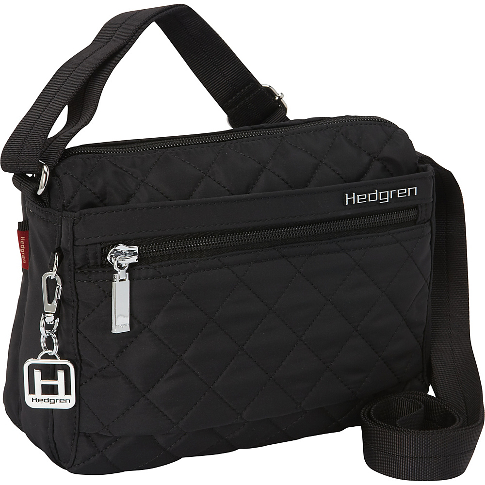 Hedgren Carina Crossbody Bag Black Hedgren Fabric Handbags