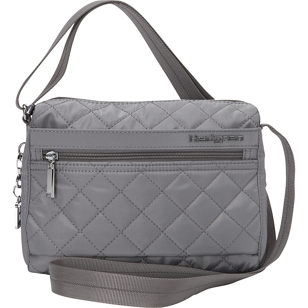Hedgren Carina Crossbody Bag Mouse Grey Hedgren Fabric Handbags